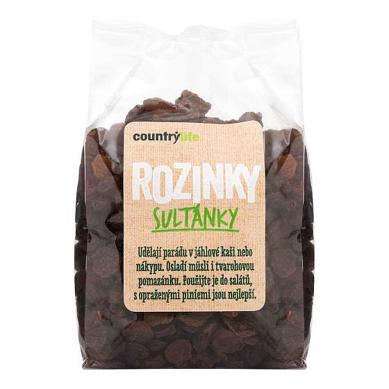 COUNTRY LIFE Rozinky sultánky 250g
